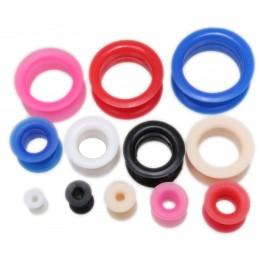 Silikon Tunnel, weich, biegsam, sitzen perfekt, 4.0mm bis 26.0mm Durchmesser, in vielen tollen Farben