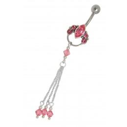 Belly Crystal Beads mit Glassteinen und Perlen