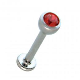 Lippenstecker in 1.2mm Stärke mit Kristall