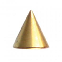 Vergoldete Aufschraubspitze mit 1,6mm Gewinde