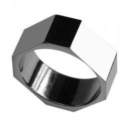 Eckiger Ring aus Wolfram