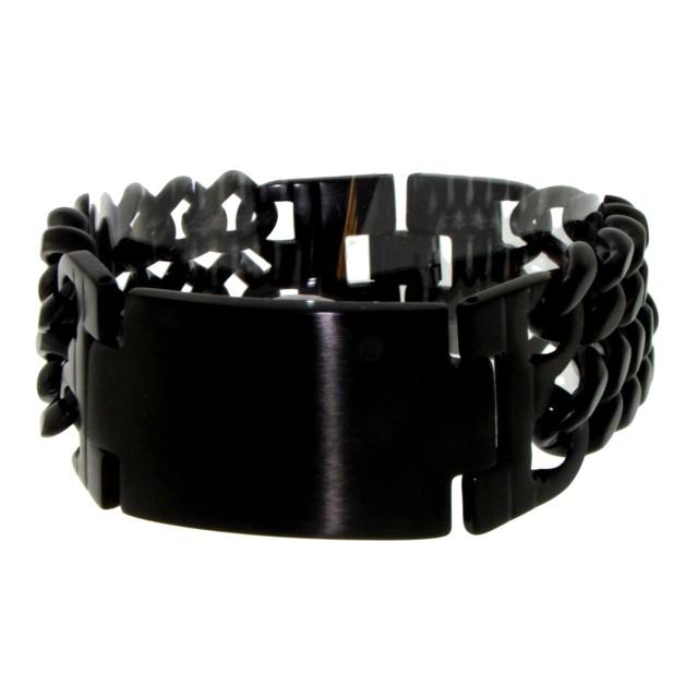 edelstahl armband schwarz mattiert f r m nner und frauen. Black Bedroom Furniture Sets. Home Design Ideas