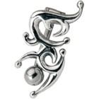 Bauchnabel Piercing mit keltischem Motiv aus 925 Sterlin