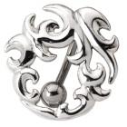 Bauchnabelpiercing mit einem Celtic Design