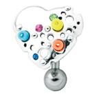 Bauchnabelstecker Chirurgenstahl - Design Herz 925 Sterling Silber