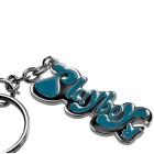 Schlüsselanhänger Playboy Schrift, blau unterlegt