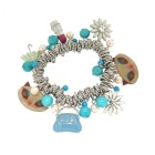 Bettelarmband French Kitty blau