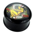 Plug aus Acetal  mit PIN-UP Motiv