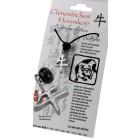 """Chinesisches Horoskopzeichen """"Büffel"""", Zinn, Kordel&Karte"""