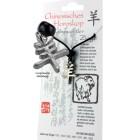 """Chinesisches Horoskopzeichen """"Ziege"""", Zinn, Kordel&Karte"""