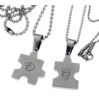 Gravur: Partner-Anhänger Puzzle-Set inkl. Kugelketten