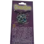 Kettenanhänger mit Drachen Design - mit Swarovski Stein
