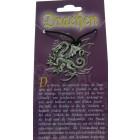 Kettenanhänger mit Drachen Design - feuerspeiender Drache