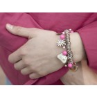 Bettelarmband French Kitty pink