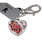 Playboy Schlüsselanhänger Herz Bunny rote Kristalle