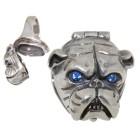 Schwerer Ring aus 925 Sterling Silber, Motiv Bulldogge