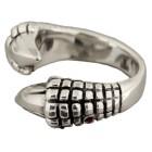 Schwerer Ring aus 925 Sterling Silber, Motiv Klaue
