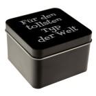 Schmuckbox mit Gravur Metall schwarz - L