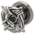 Ohrplug mit Stacheldraht Design 4-6mm