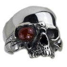 Schwerer Ring Motiv Totenkopf aus 925 Sterling Silber, oxidiert
