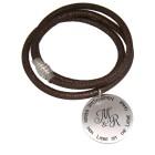 Echtlederarmband Nappa mit Silber Anhänger und Gravur
