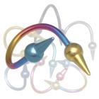 Body Twister aus Titanium in mehreren Farben mit Aufschraubspitzen in 1.6mm Stärke