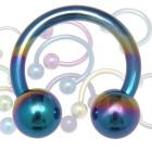 Circular Barbell bzw. Hufeisenring aus Titanium in 1.0 bis 1.6mm Stärke in diversen Farben. Wählen Sie zunächst die gewünschte