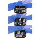 Zwei Partner-Ringe Edelstahl schwarz mit Namensgravur