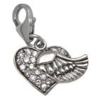 Anhänger Fliegendes Herz aus 925 Sterling Silber