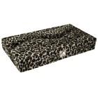 Schmuckbox für 12 Piercings mit Kunstfell bezogen Leopard Look Spiegel innen