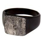 Siegelring aus mattiertem Edelstahl mit Ihrem Fingerabdruck