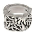 KOOLKATANA Stahlring mit keltischem Motiv