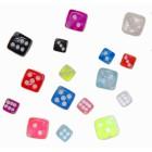 Neon-Klemmwürfel in 4mm oder 6mm in vielen bunten UV-Farben