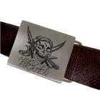 Gravurartikel: Gürtelschnalle aus mattiertem Edelstahl, rechteckig