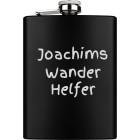 Flachmann gross aus Edelstahl schwarz PVD-beschichtet mit Ihrer Wunschgravur 226.4ml