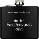 Flachmann gross aus Edelstahl schwarz PVD-beschichtet mit Ihrer Wunschgravur